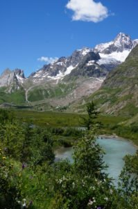 A glacial stream in Val Veny, Tour du Mont Blanc