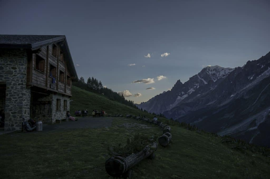 Rifugio Bonatti TMB accommodation