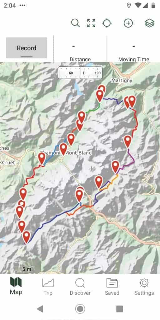 Tour du Mont Blanc GPS
