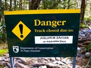 Mackinnon Pass Avalanche