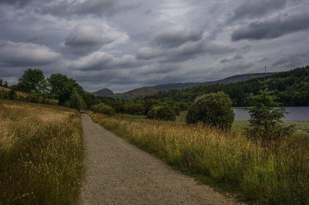 The path from Milngavie to Drymen on the West Highland Way