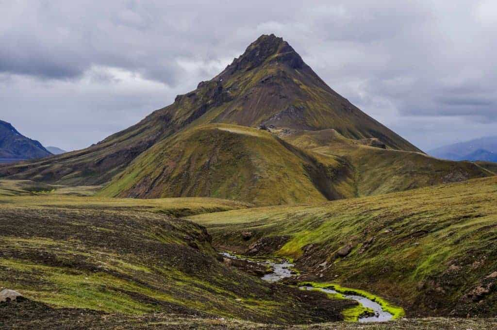 landscape near Hvanngil on the Laugavegur Trail