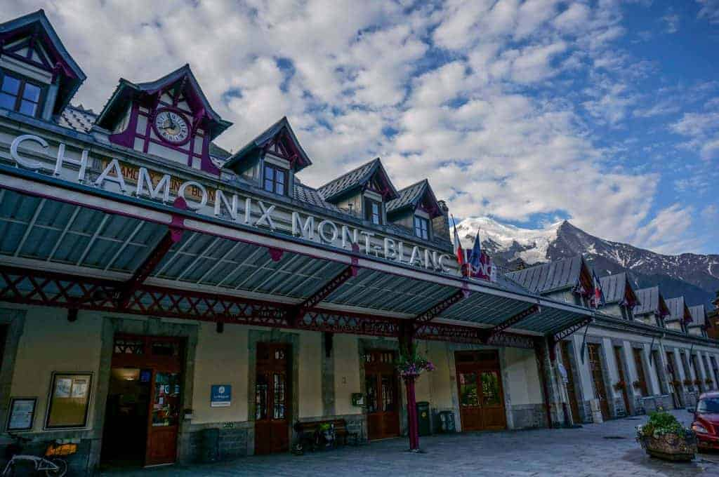 Chamonix Train Station, the start of the Haute Route.