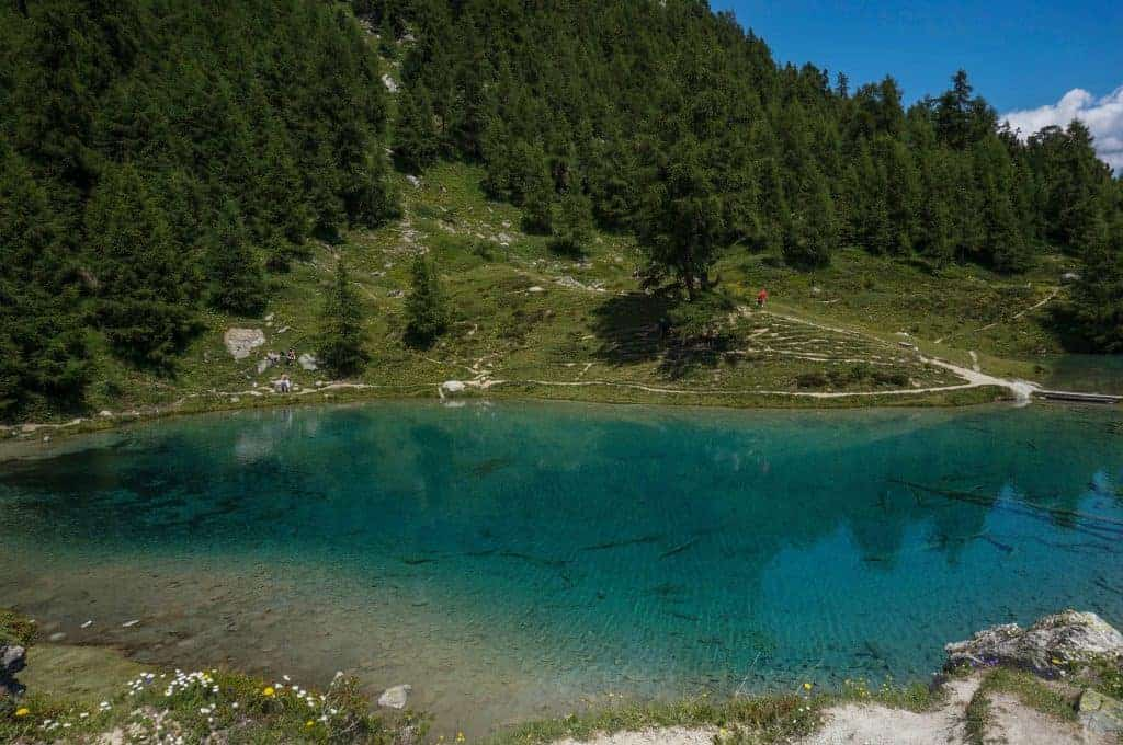 Lac Bleu on the Walker's Haute Route