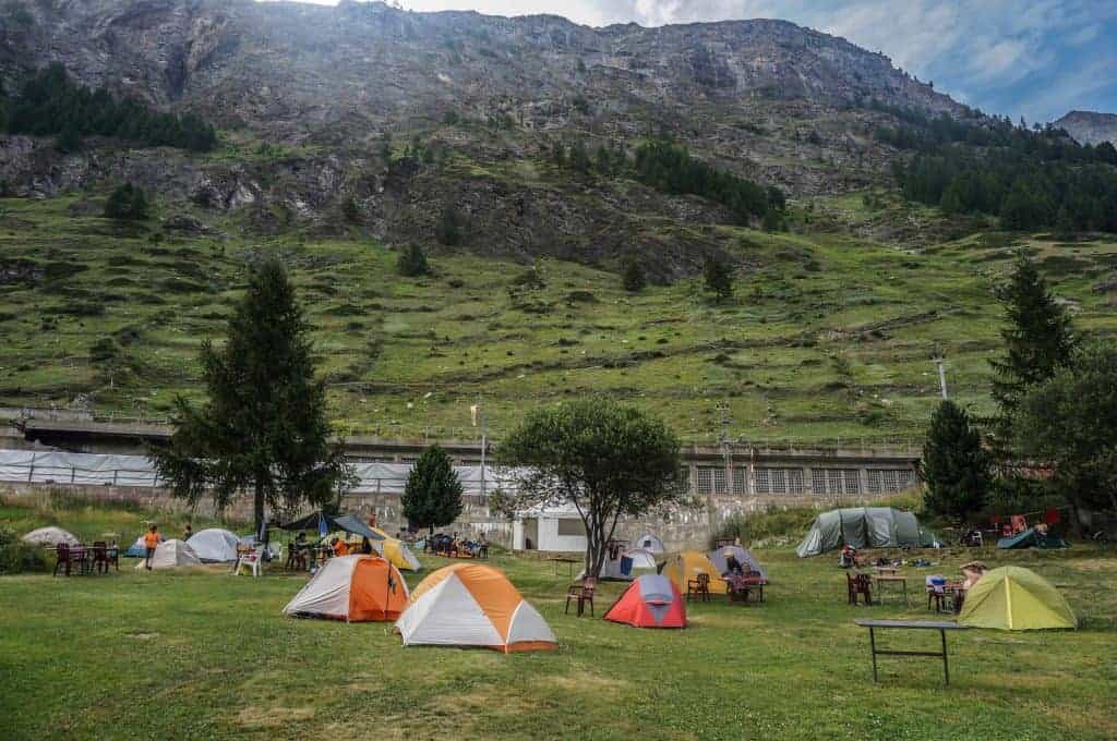 Zermatt Campground, Walker's Haute Route