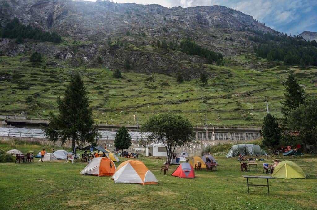 Zermatt Campground, Walker's Haute Route