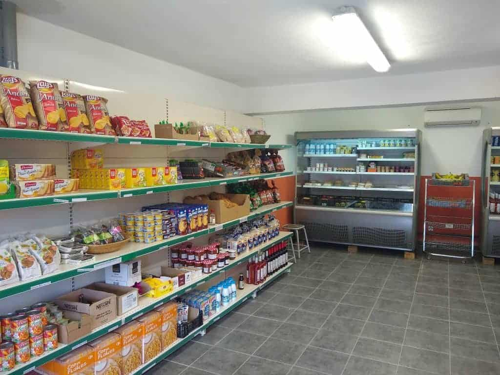 The well stocked shop at Hotel Castel di Vergio