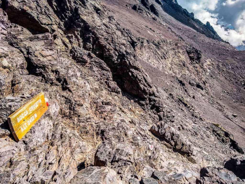 Image of GR20 trail marker