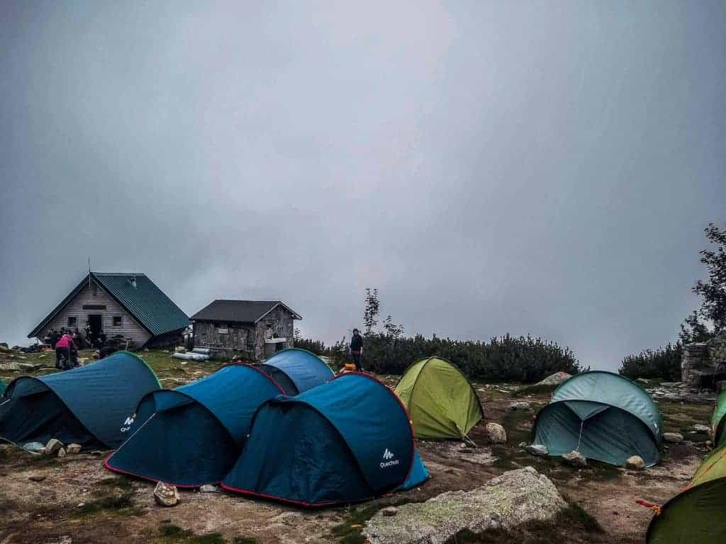 Hire tents at Refuge de Petra Piana