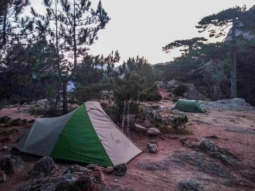 Tent at Refuge d' I Paliri