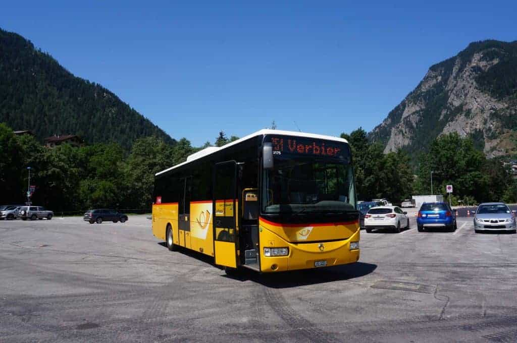 The PostBus provides easy and convenient access between many points along the Walker's Haute Route.