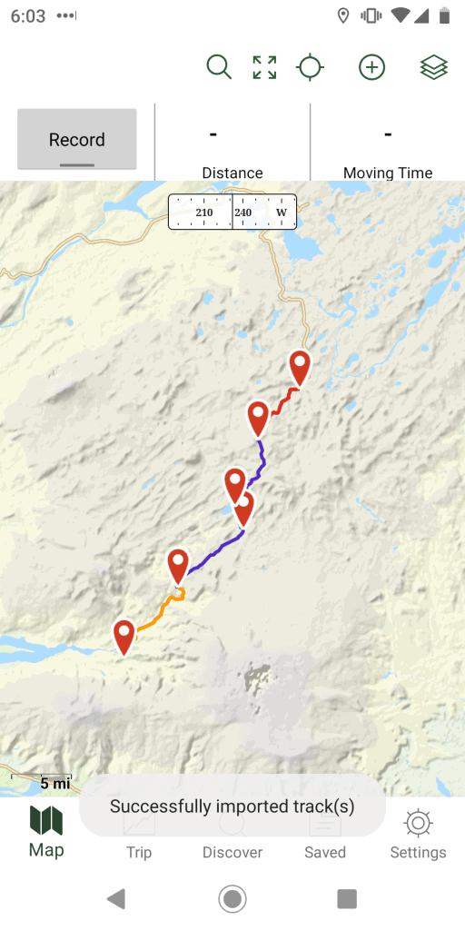 Laugavegur GPS map