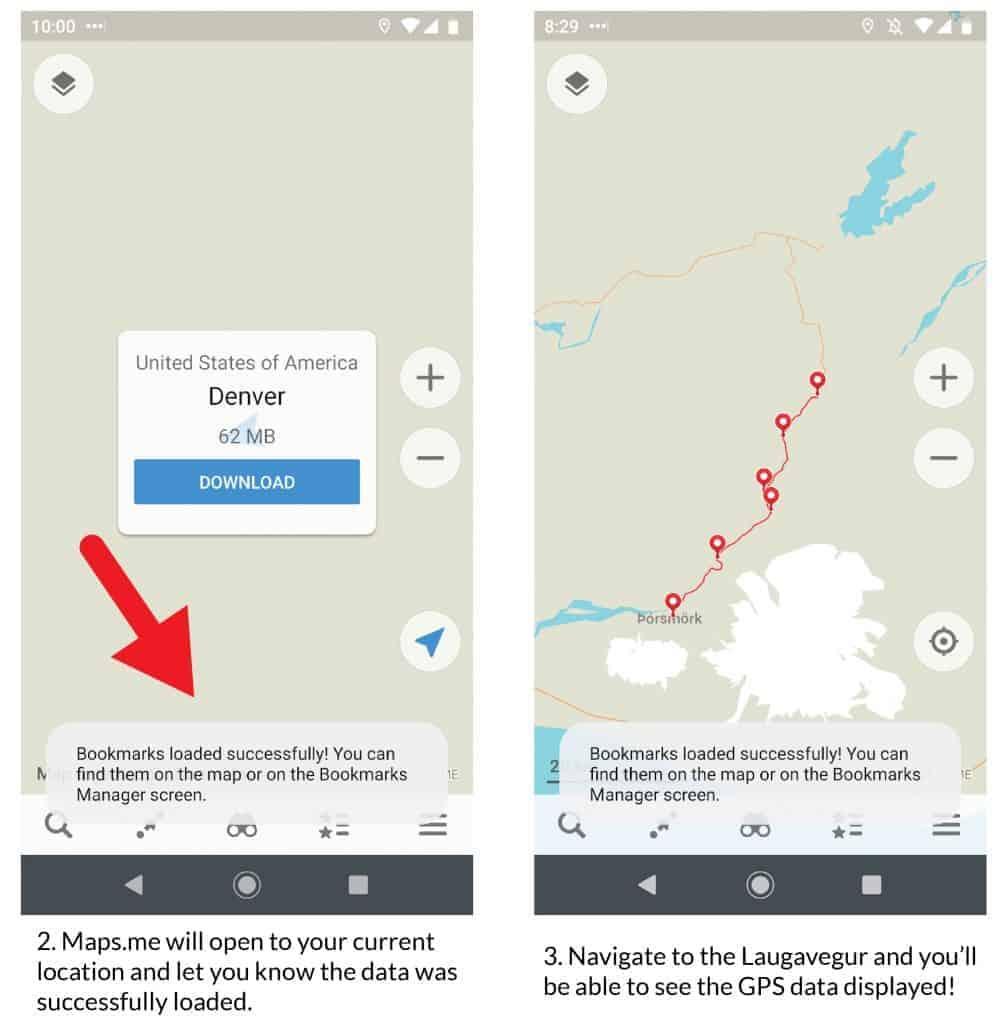 Laugavegur Trail Maps.me