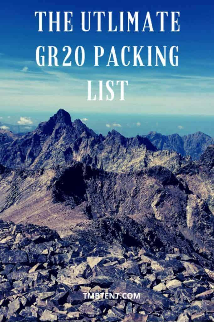 The utlimate gr20 packing list