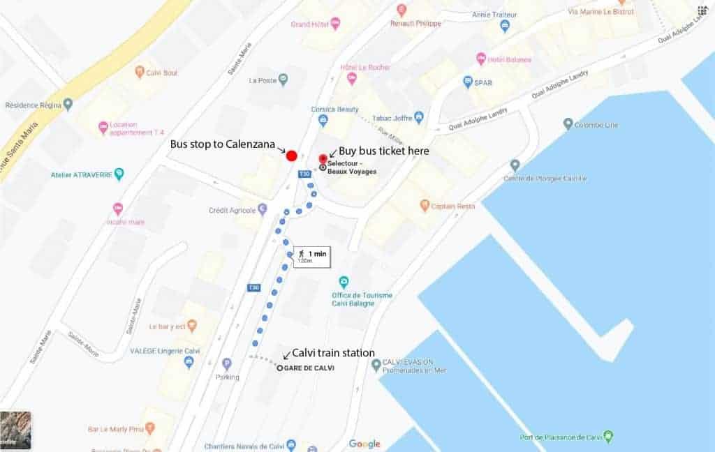 Calvi to Calenzana bus