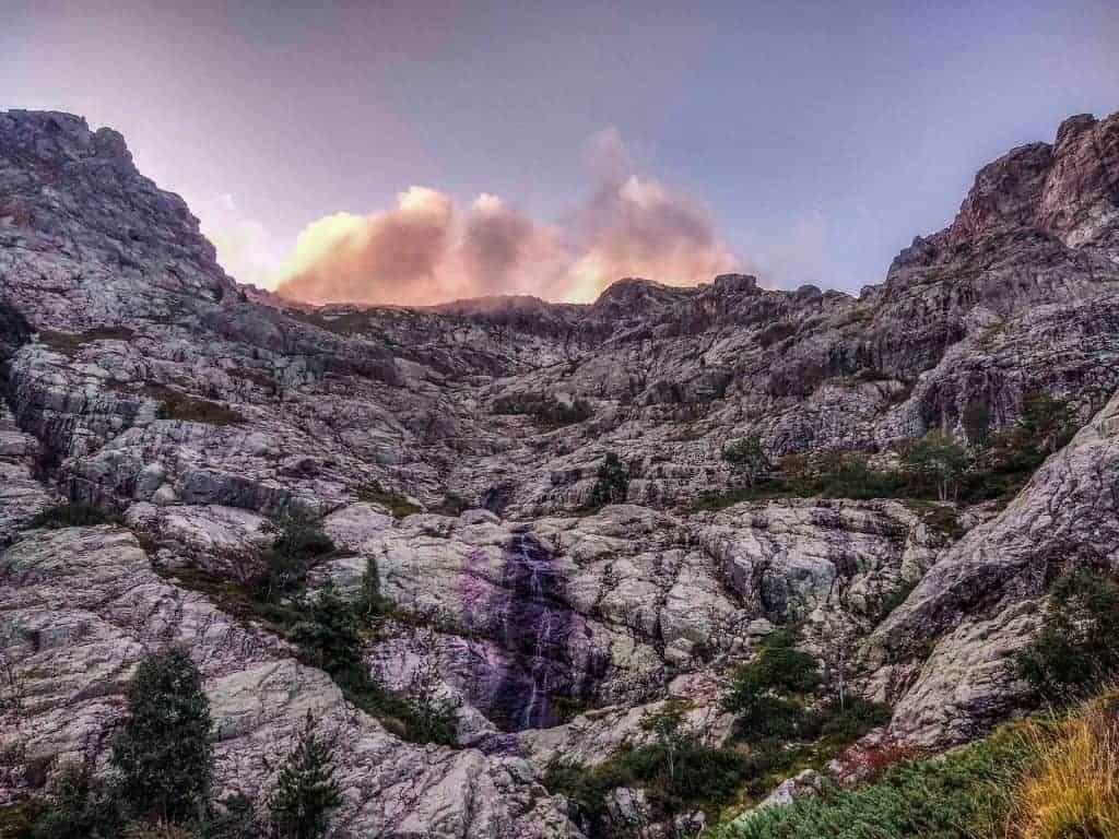 A rocky mountainside on the GR20