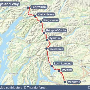 Map of the West Highland Way
