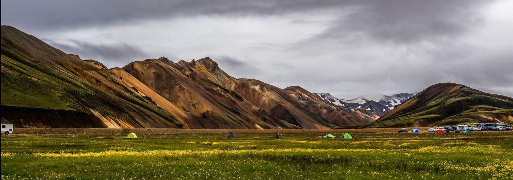 Tents in Landmannalaugar, Iceland