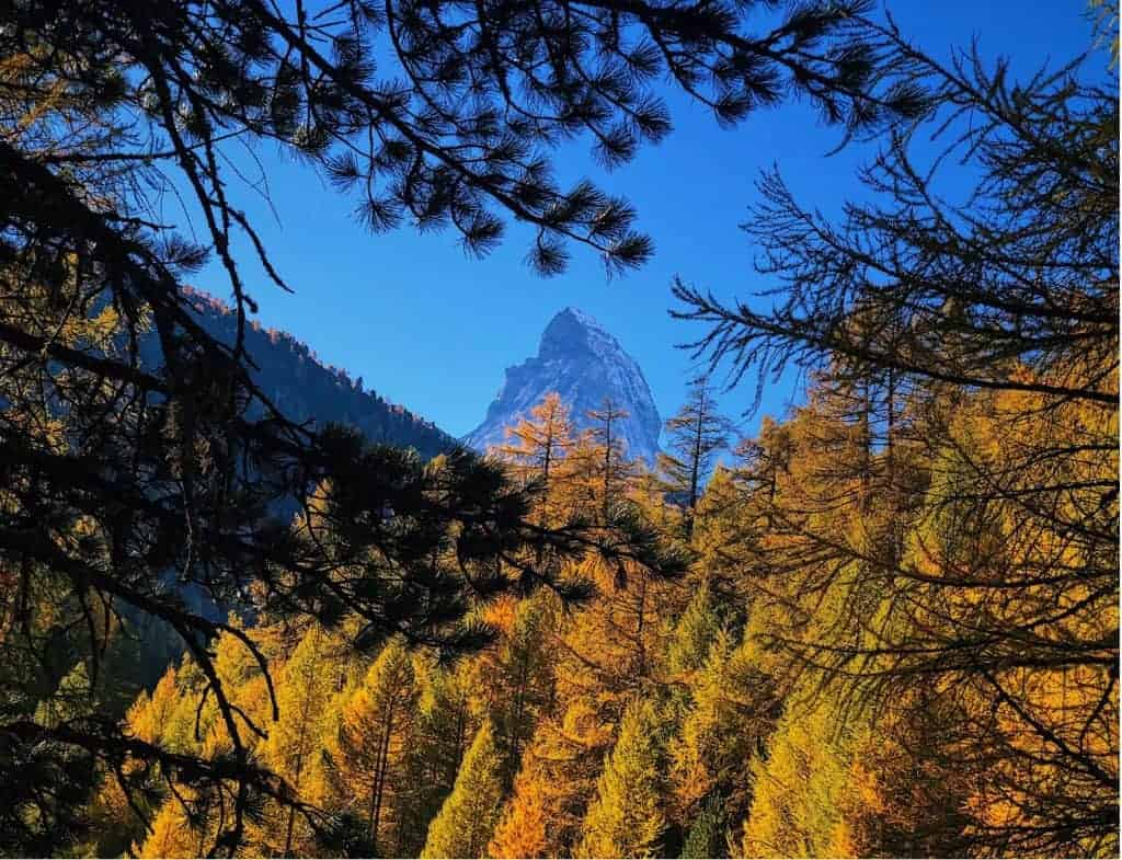 Zermatt, Switzerland in the fall.