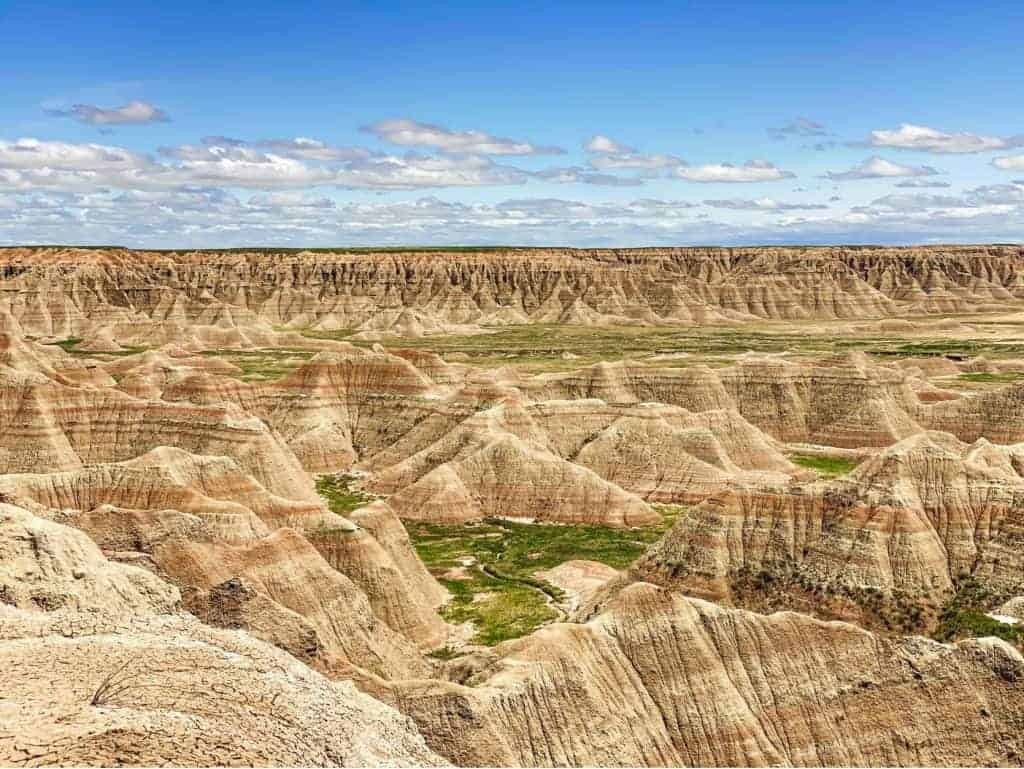 Landscape of Badlands National Park