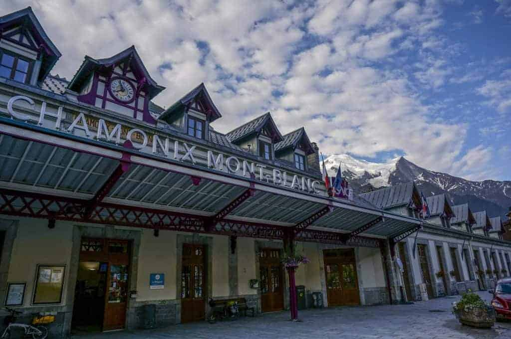 Chamonix train station - the start of the Walker's Haute Route.