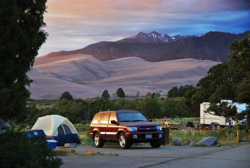 Piñon Flats Campground in Great Sand Dunes National Park