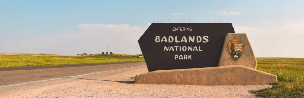 Entrance to Badlands National Park