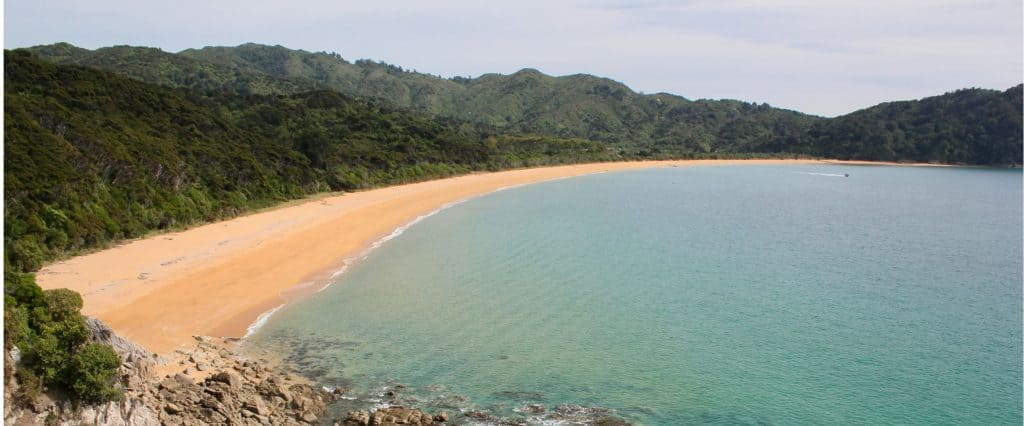 A beach on the Abel Tasman Coast Track