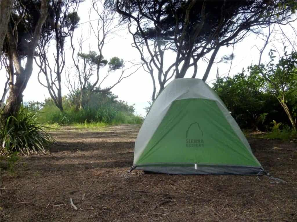 Tent at Anapai Bay Campsite.