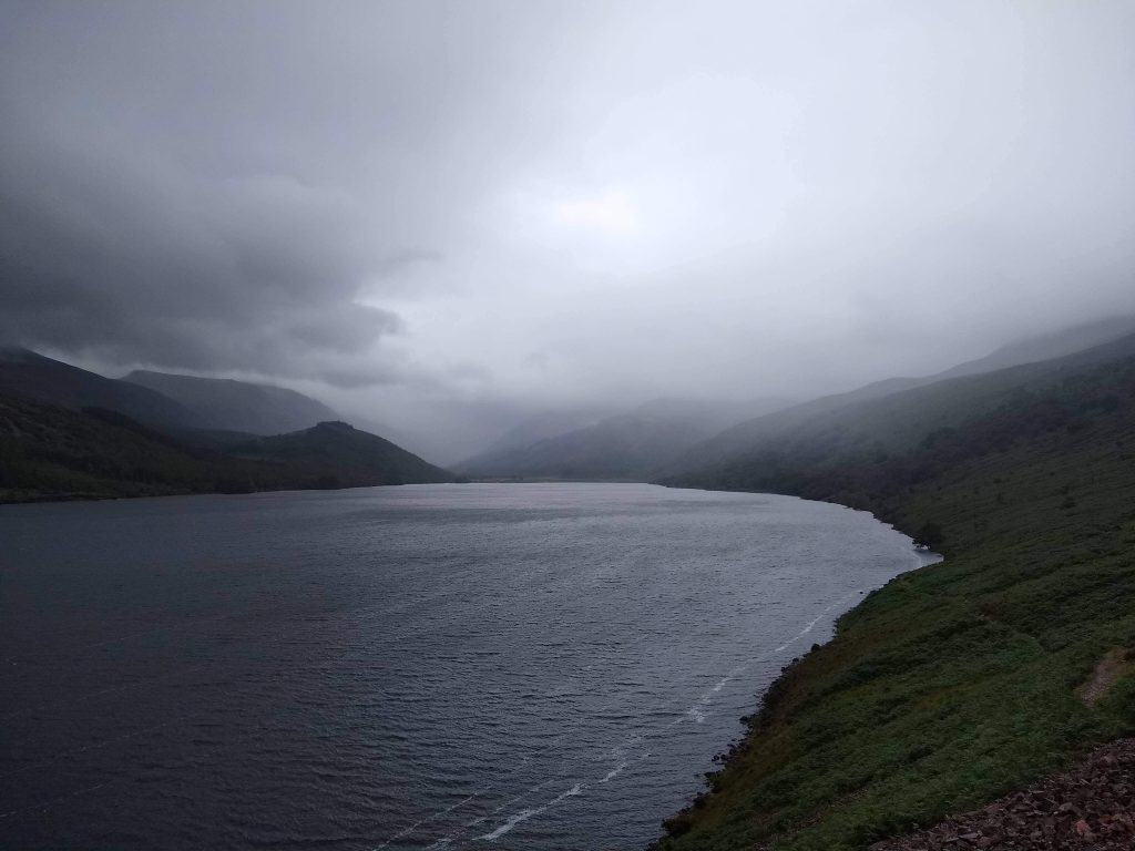 Rainy weather on Ennerdale Water in the Lakes District, Coast to Coast Walk