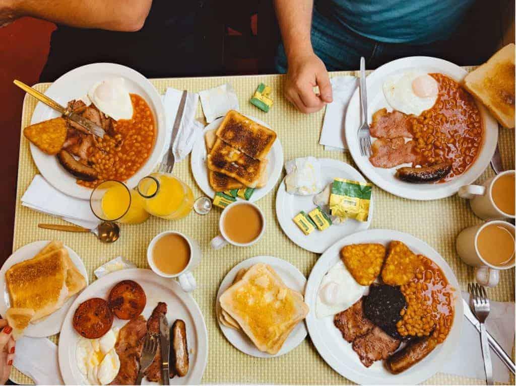 Full English Breakfast at a B&B on the Coast to Coast walk