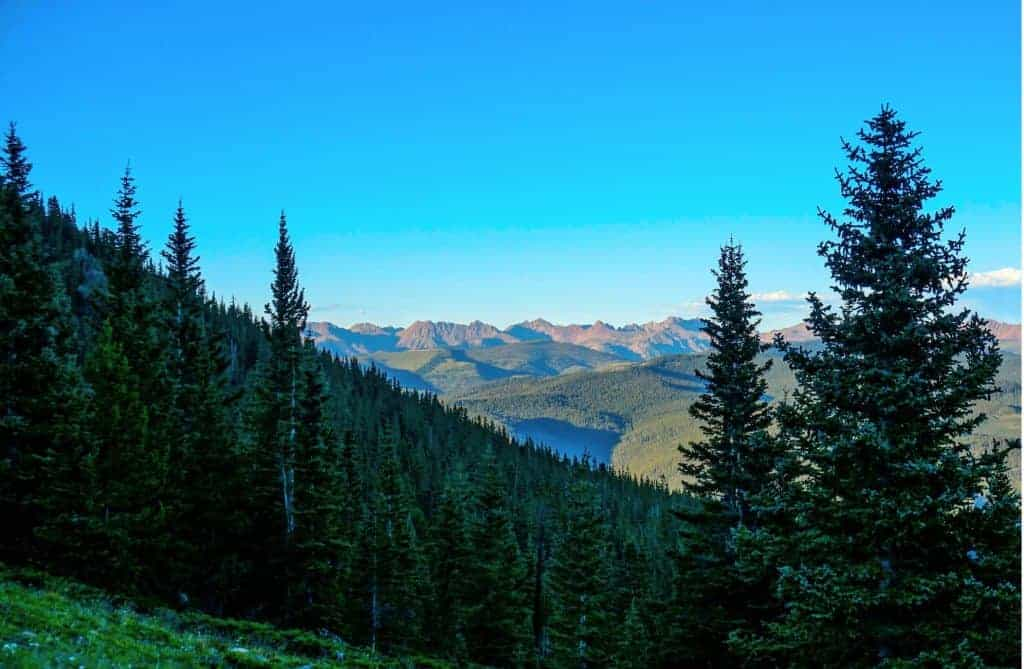 Views of the Gore Range from Half Moon Pass.