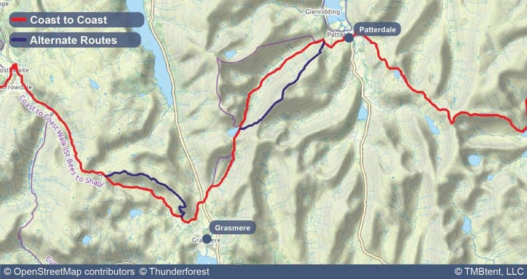 Stage four of the Coast to Coast Walk from Grasmere to Patterdale.