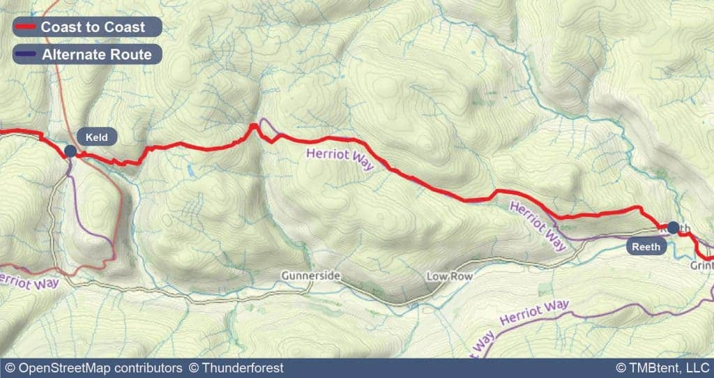 Stage eight of the Coast to Coast Walk from Keld to Reeth.