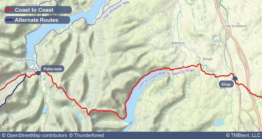 Stage five of the Coast to Coast Walk from Patterdale to Shap.