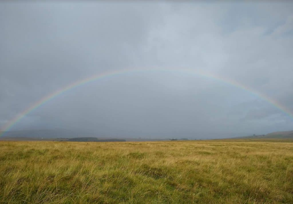 Rainbow in Yorkshire Dales on the Coast to Coast Walk