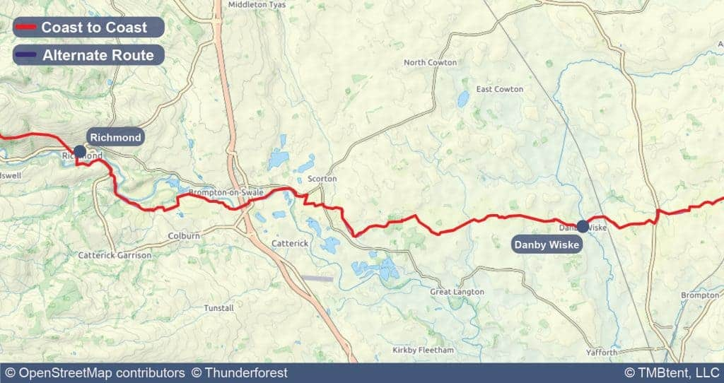 Stage ten of the Coast to Coast Walk from Richmond to Danby Wiske.