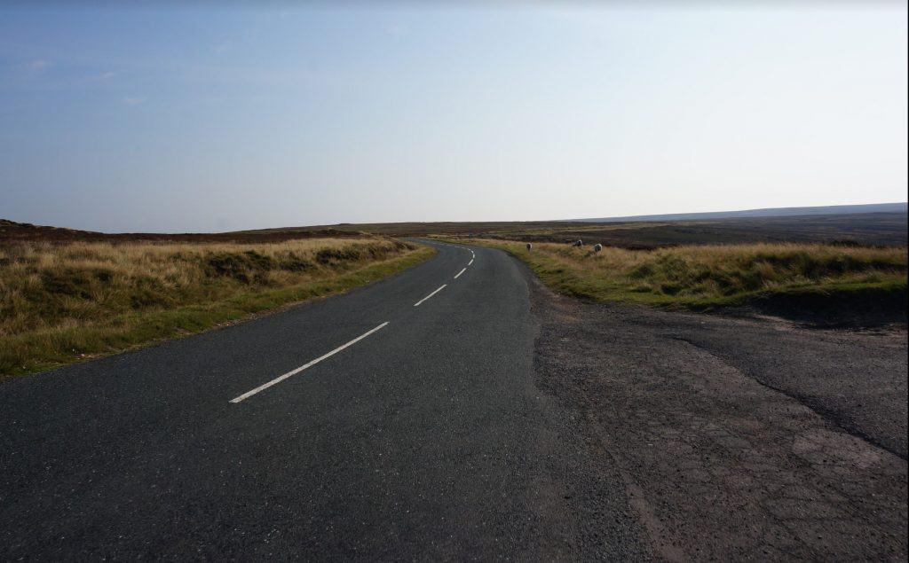 Road walking in the North York Moors Coast to Coast Walk