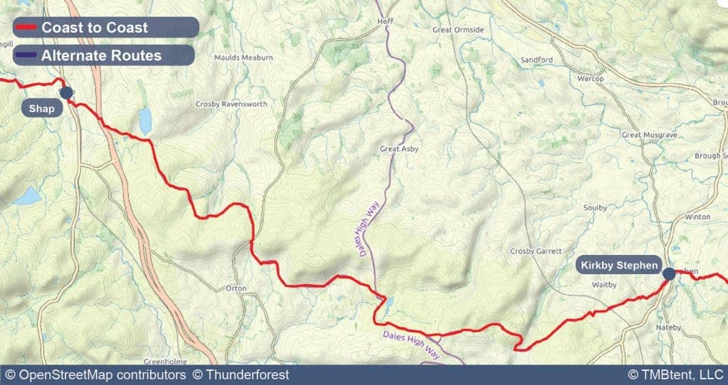 Stage six of the Coast to Coast Walk from Shap to Kirkby Stephen.