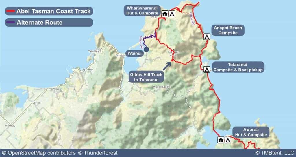 Stage 4 on the Coast Track from Awaroa Bay to Whariwharangi.