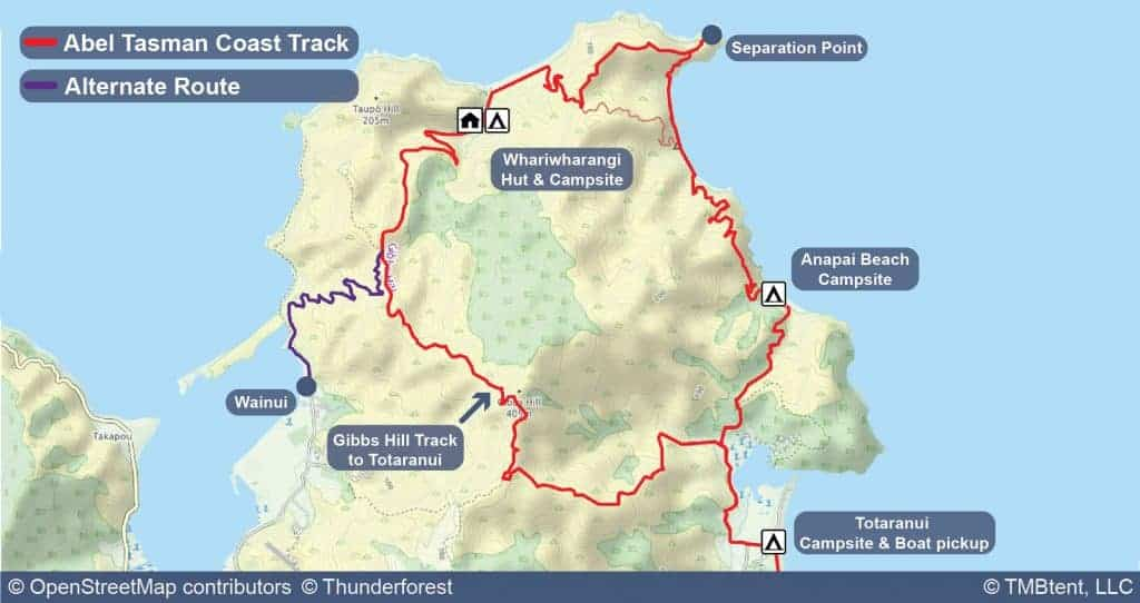 Stage 5 of the Coast Track from Whariwharangi to Totaranui or Wainui.