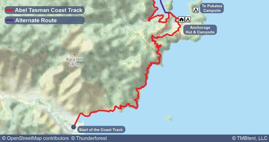 Stage 1 of the Coast Track from Marahau to Anchorage