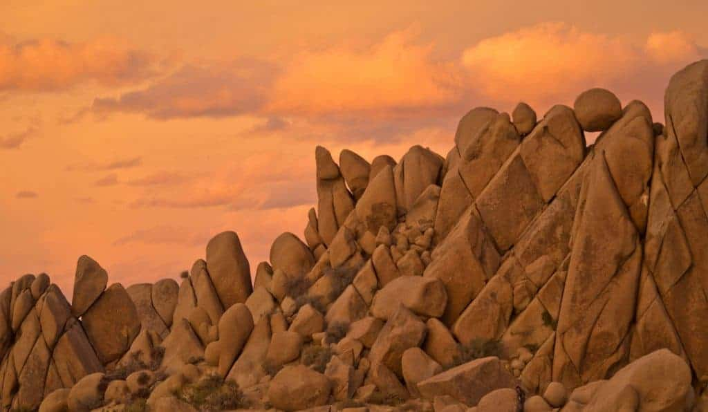 Criss Cross Rock in Joshua Tree