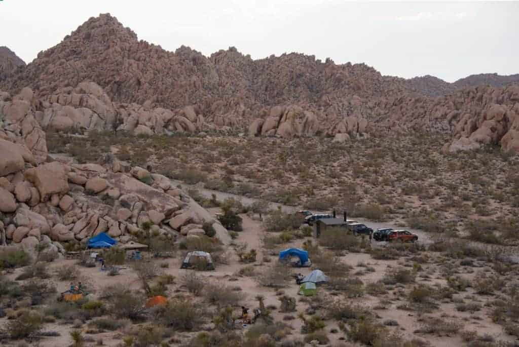 Tents at the Indian Cove Campground