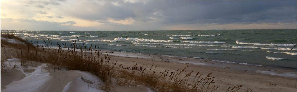 View of Lake Michigan from the Indiana Dunes.