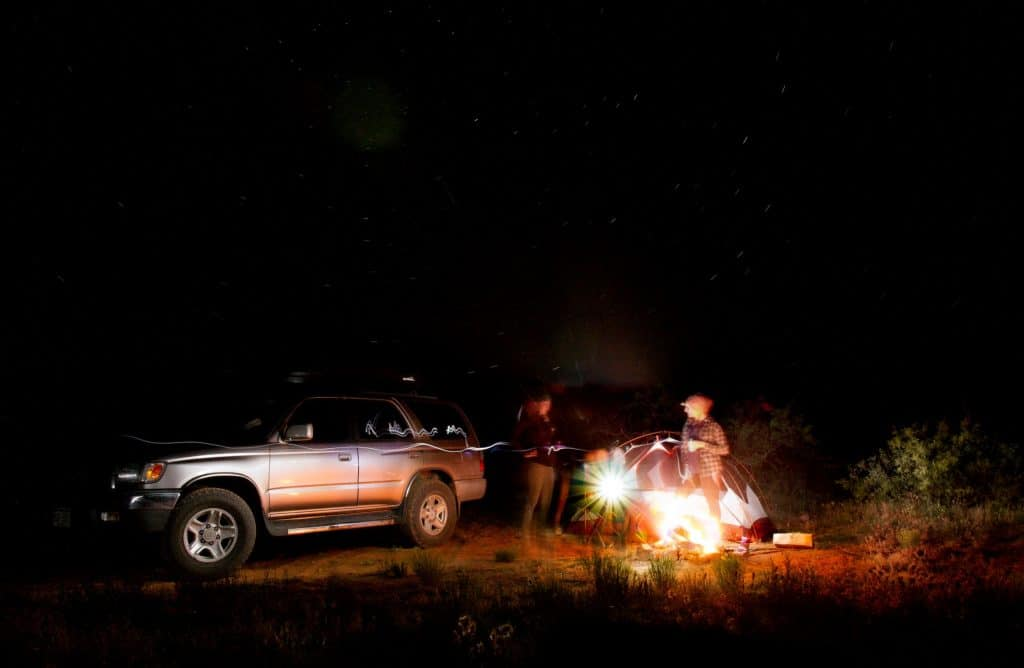Car camping near Joshua Tree