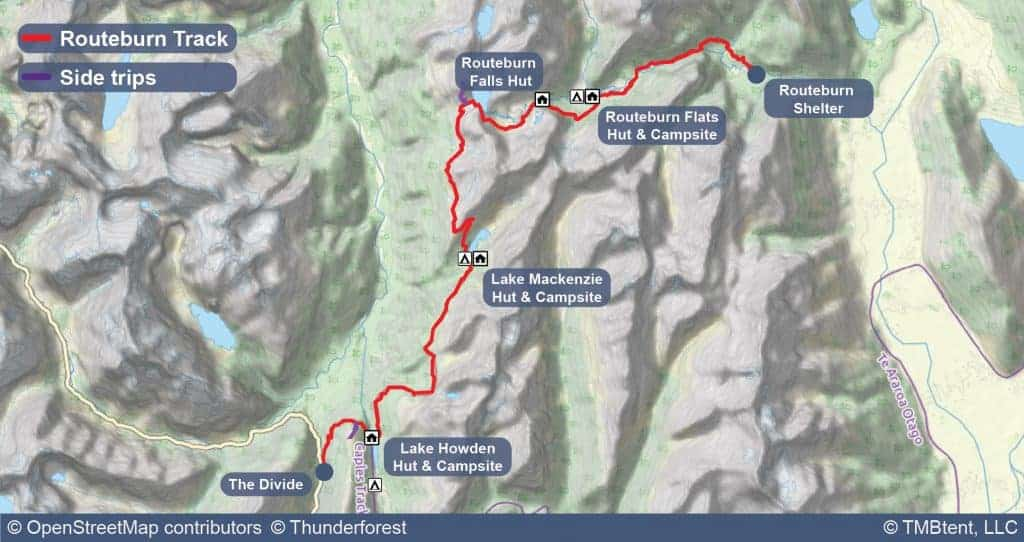 Routeburn Track Map