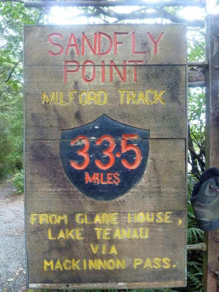 Sandfly Point at the finish of the Milford Track.