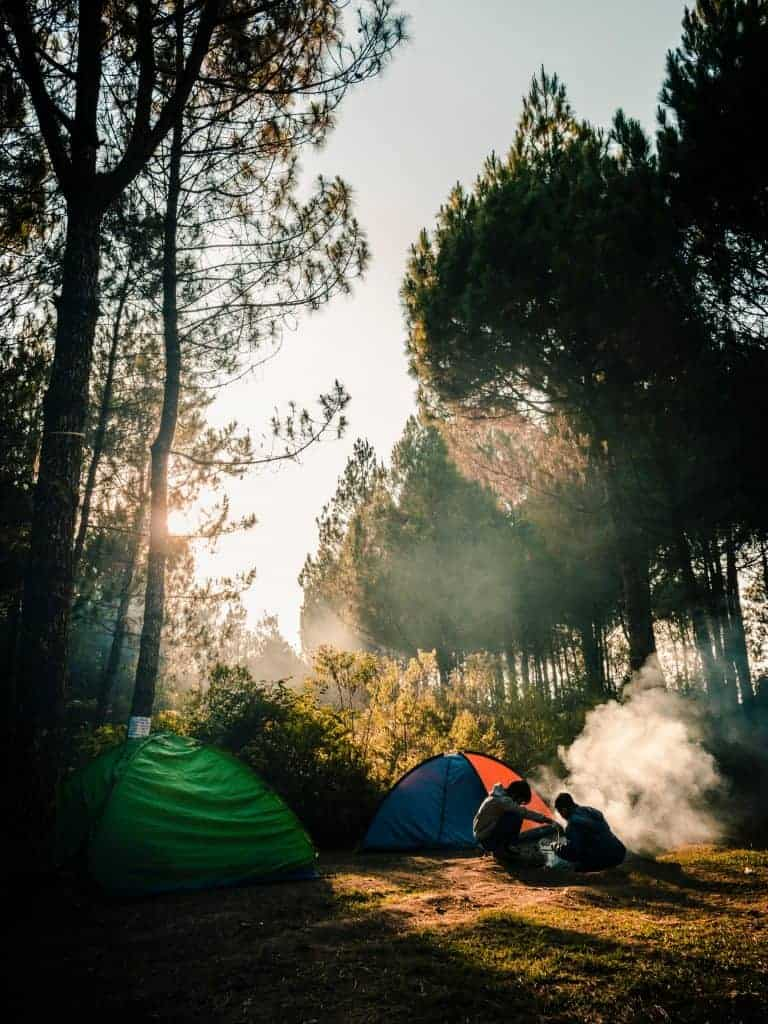 Dispersed camping near Pinnacles National Park