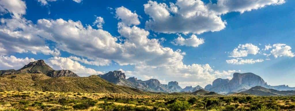 View of the Chisos Mountains